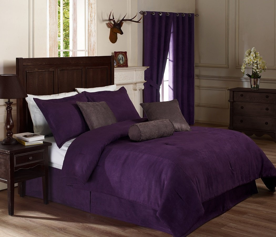 Pink and Purple Comforter Sets | Purple and Gold Comforter Sets King | Purple Comforter Sets