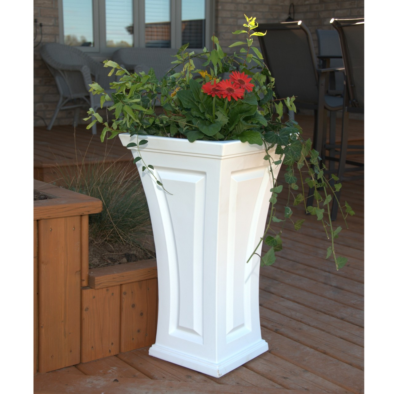 Planter Urns Tall Planter Pots Tall Planters Tall Square Planter Tall  Wooden Planter Tall Garden Planter Tall Zinc Planters Large Ceramic Pots  Tall Planter ... - Large Patio Planter Pots. Patio Plants For Shade Good Potted Plant