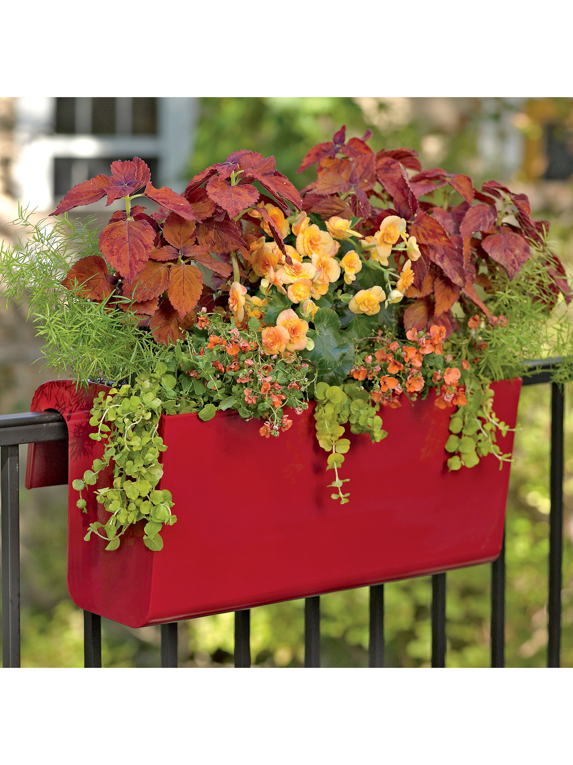 Planters for Balcony Railings | Flower Box Brackets for Vinyl Railing | Deck Rail Planters