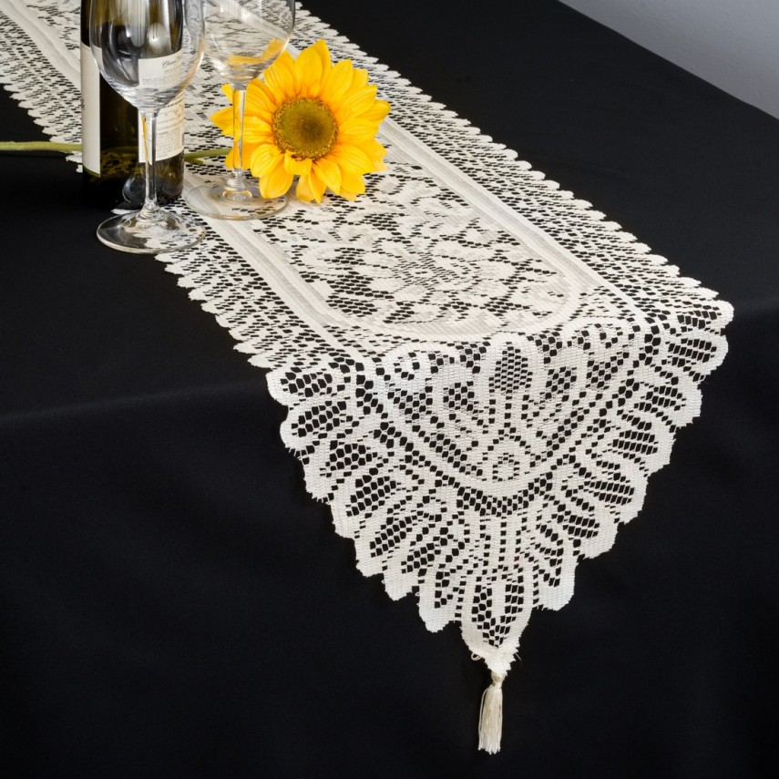 Plastic Table Runners | Purple Table Runner | Lace Table Runners