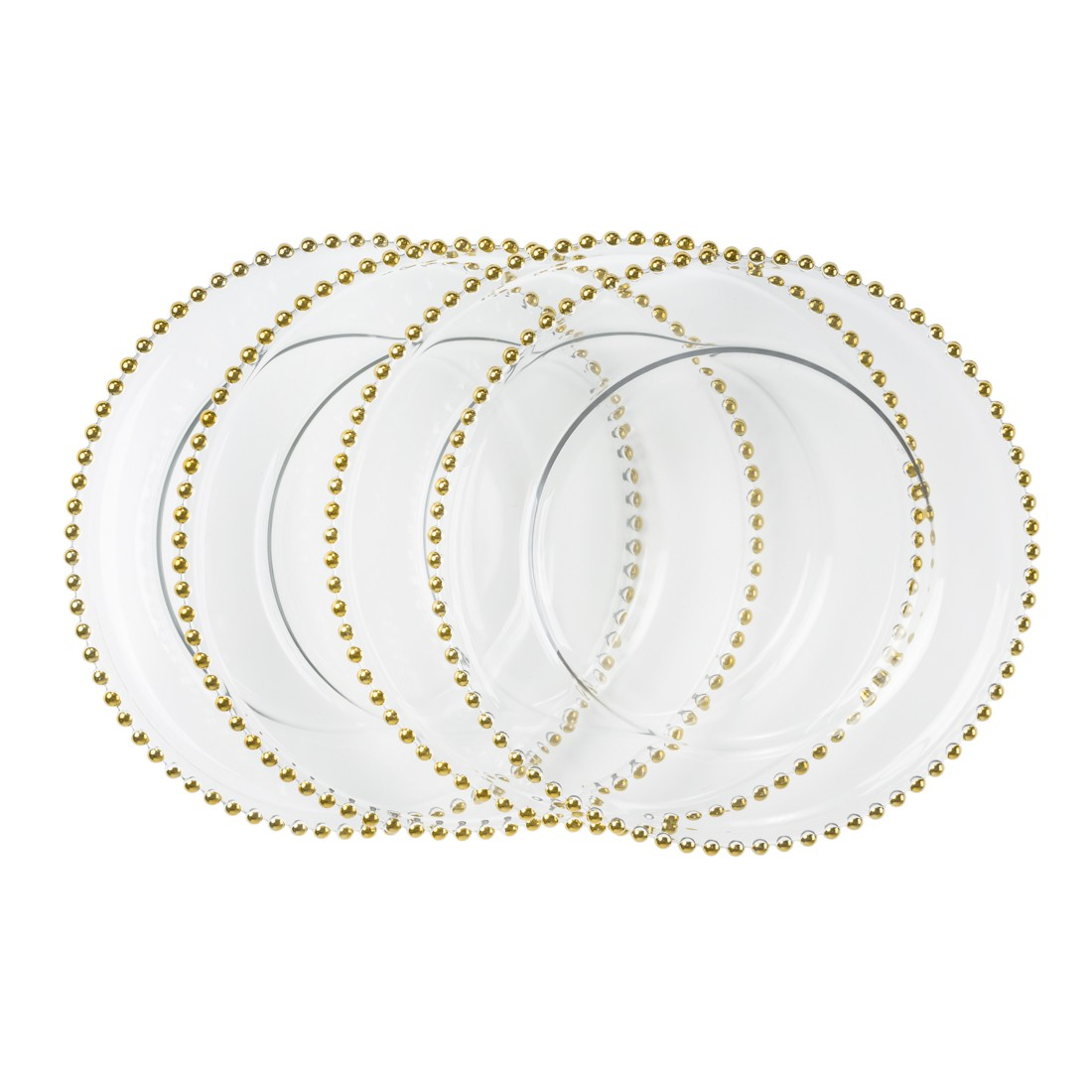 Silver Beaded Chargers The Jay Companies 13 Quot Round Gold Beaded Glass Charger Plate Silver