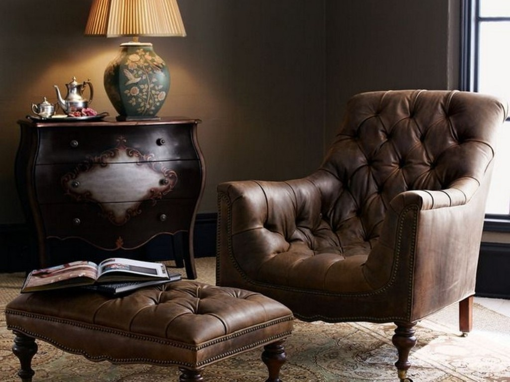 Pottery Barn Chairs | Ikea Leather Chair And Ottoman | Leather Chair And  Ottoman