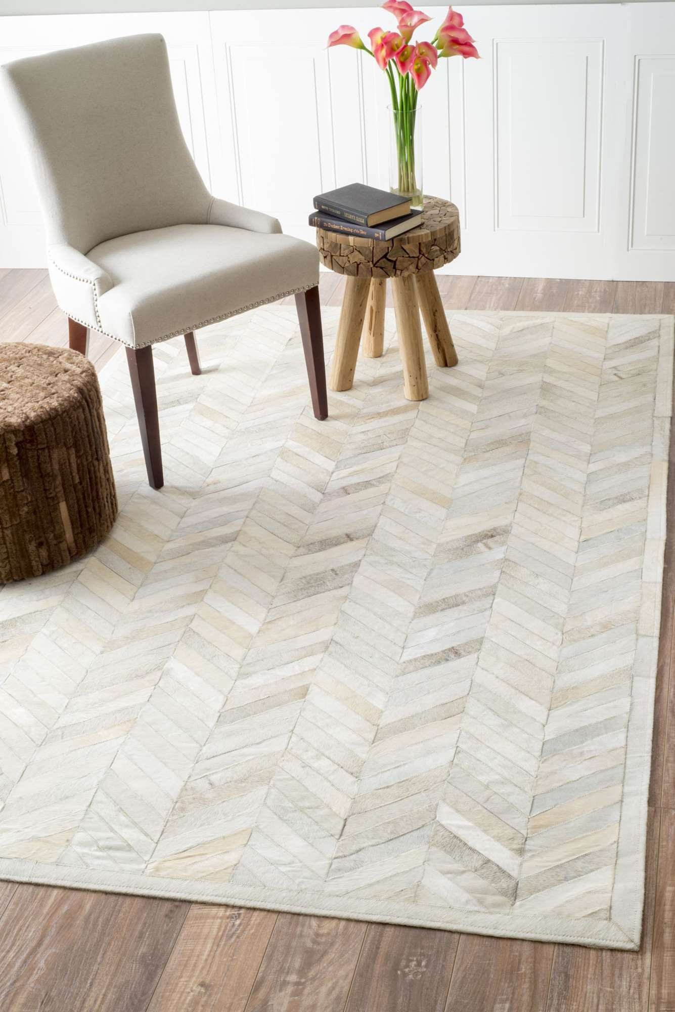 Pottery Barn Kids Chevron Rug | Beige and White Chevron Rug | Chevron Rug