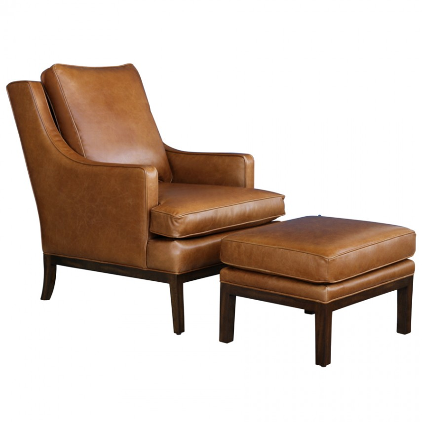 Pottery Barn Leather Chair | World Market Armchair | Leather Chair And Ottoman