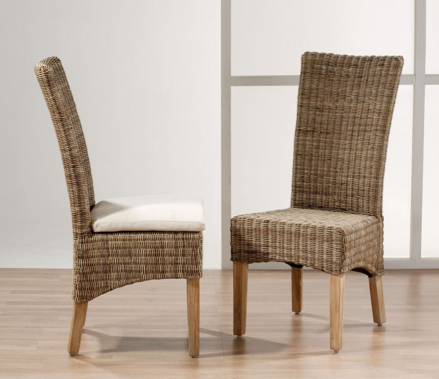 Pottery Barn Rattan Chair | Rattan Chair | Rattan Papasan Chair With Cushion