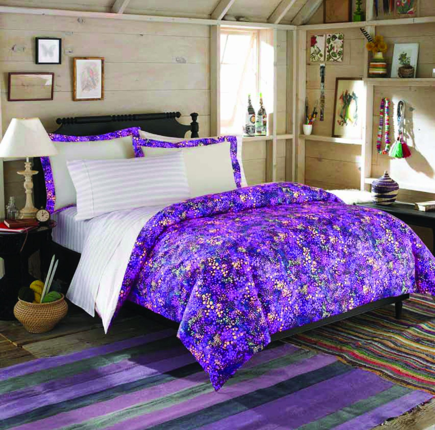 Purple and Gold Comforter Set | Purple Comforter Sets | Purple Comforter Sets Queen