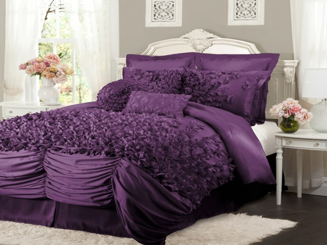 Purple and Pink Comforter Sets | Purple Comforter Sets | Purple Queen Comforter Set