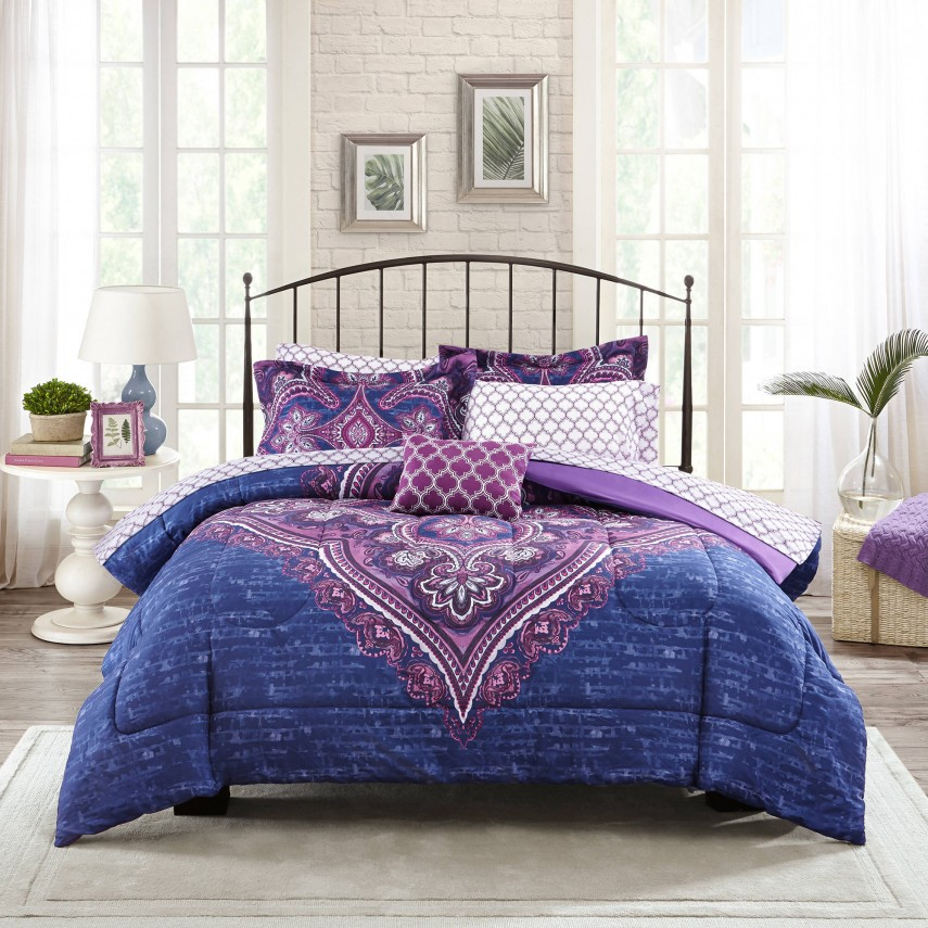 Purple Comforter Sets | Purple And Gold Comforter Set | Purple Comforter Sets King