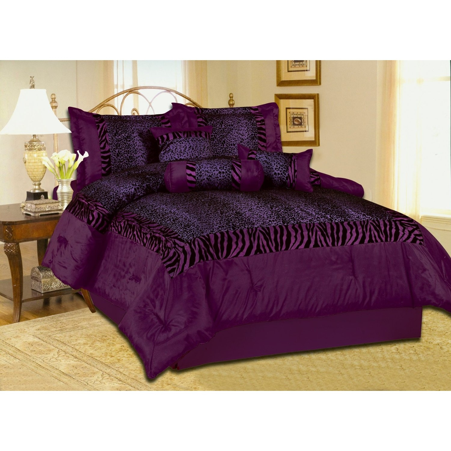 Purple Comforter Sets | Purple Comforter Set | Dark Purple Comforter Sets Queen
