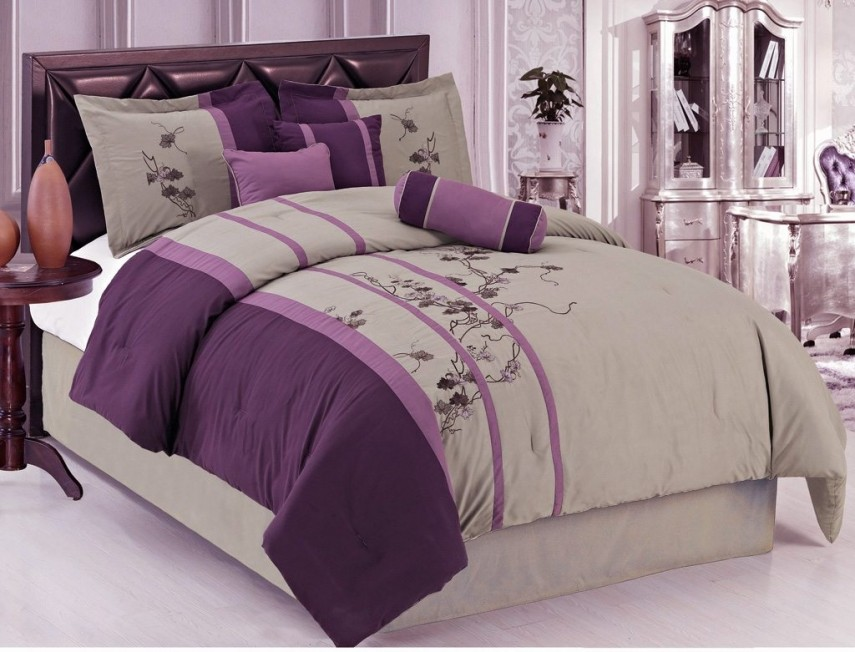 Purple Comforter Sets | Purple Flower Comforter Set | Comforter Sets Queen Purple