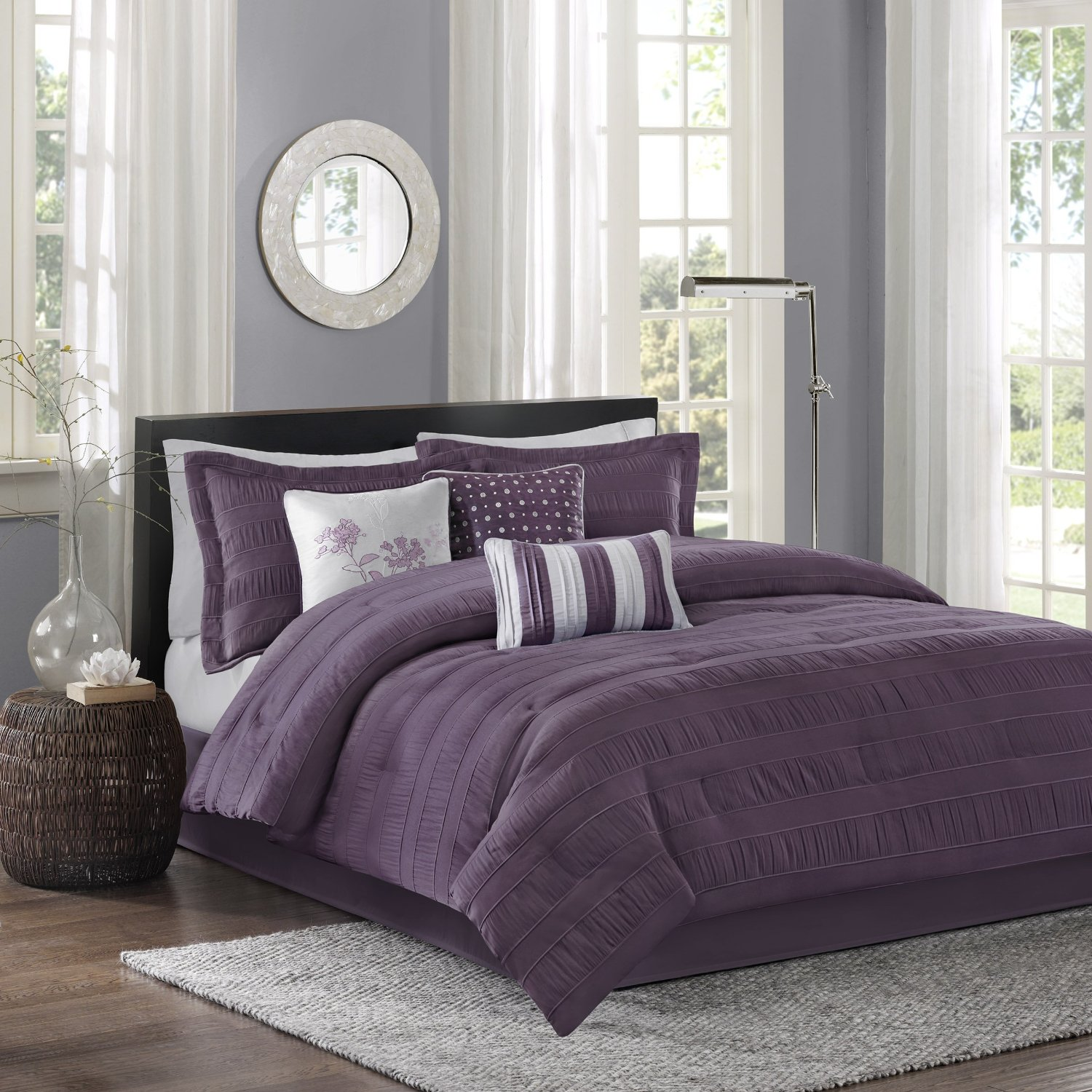 Purple Comforter Sets | Purple King Size Comforter Sets | Dark Purple Comforter Sets