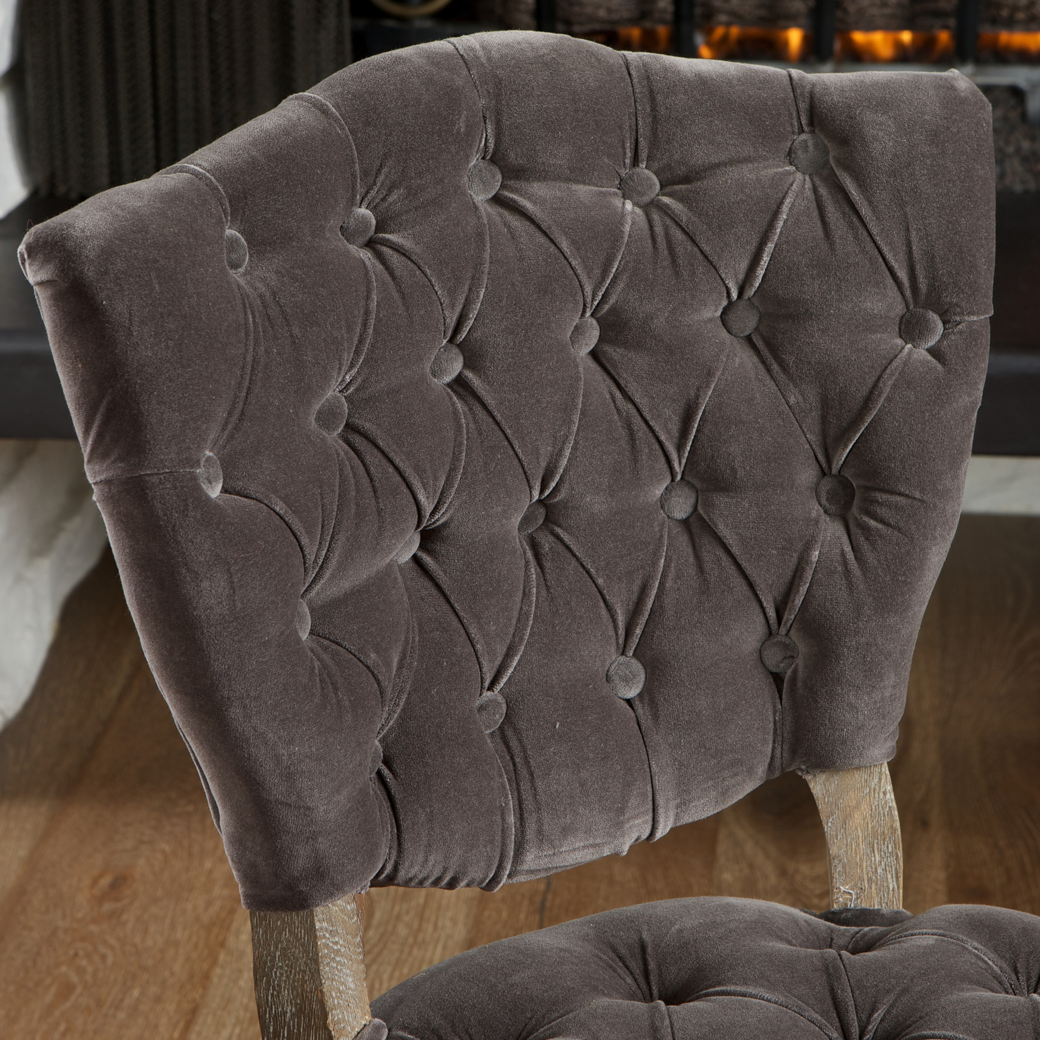 Purple Dining Chairs | Tufted Nailhead Dining Chair | Tufted Dining Chair