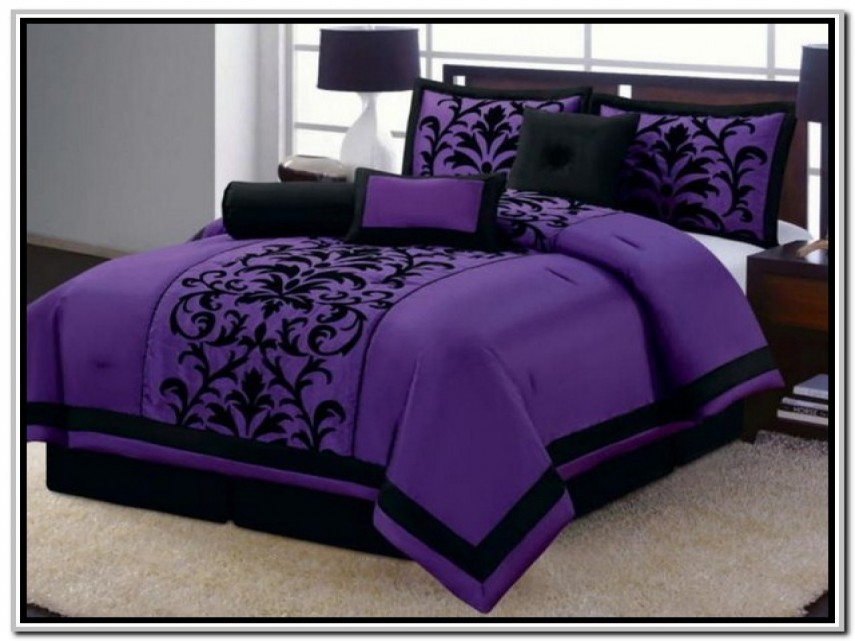 Purple King Comforter Set | Queen Comforter Sets Purple | Purple Comforter Sets