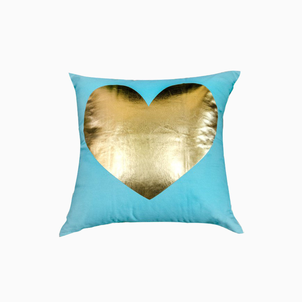 Purple Lumbar Pillow | Royal Blue Decorative Pillows | Gold Throw Pillows