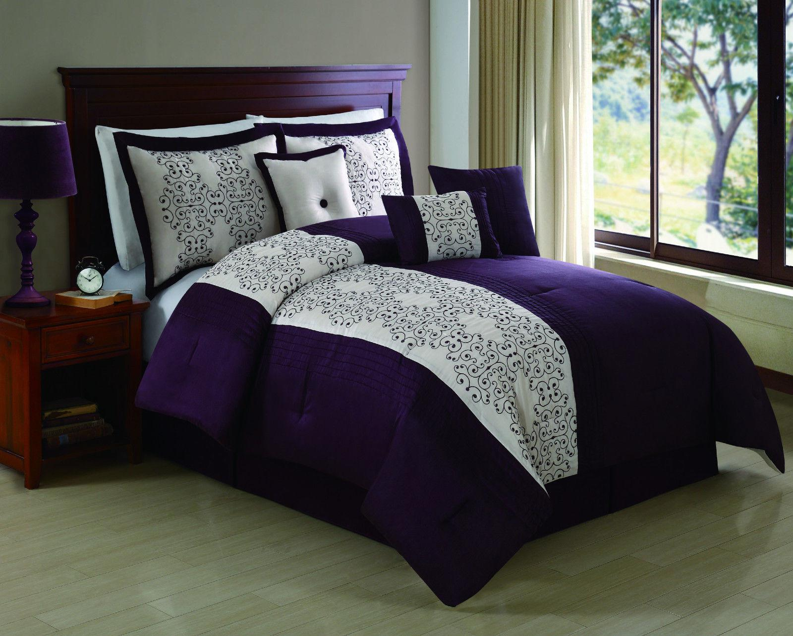 Purple Queen Comforter Sets | Purple Comforter Sets | Full Size Purple Comforter Sets