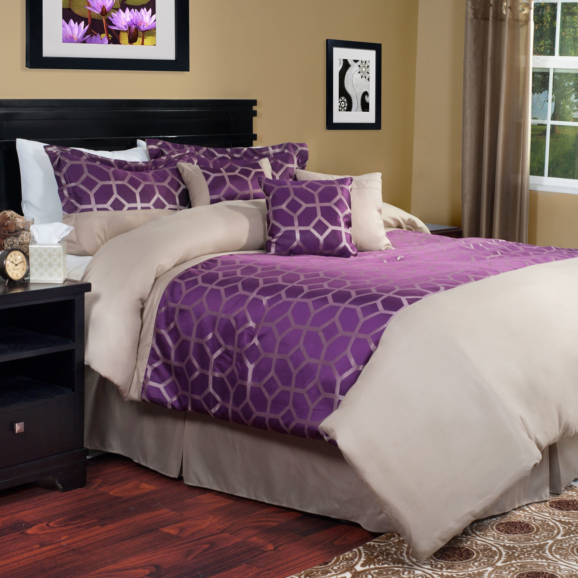Purple Queen Comforter Sets | Purple Comforter Sets | Purple Velvet Comforter Sets Queen