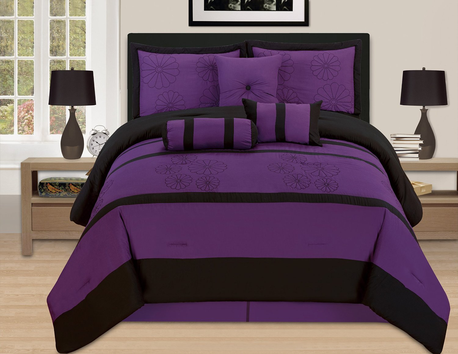 Purple Rose Comforter Set | Comforter Set Purple | Purple Comforter Sets