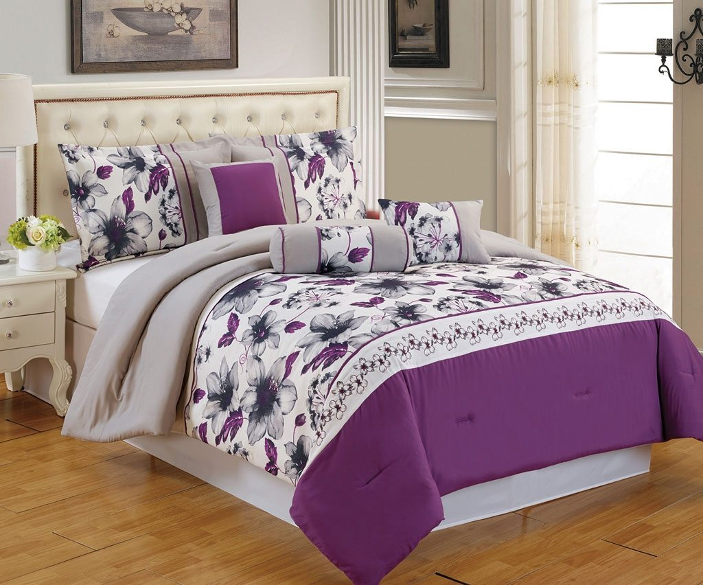 Purple Twin Comforter Set | Comforter Sets Queen Purple | Purple Comforter Sets