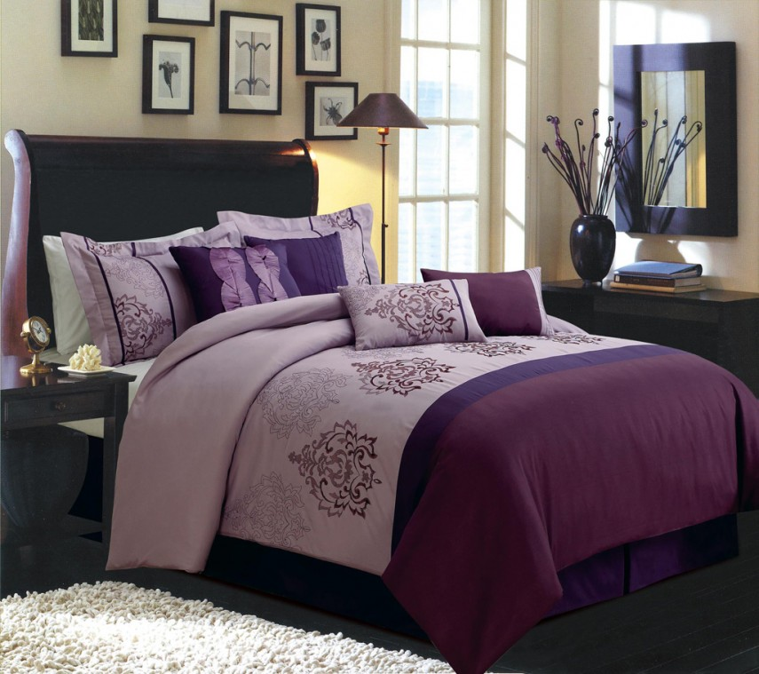 Purple Twin Comforter Set | Purple Comforter Sets | Purple California King Comforter Sets