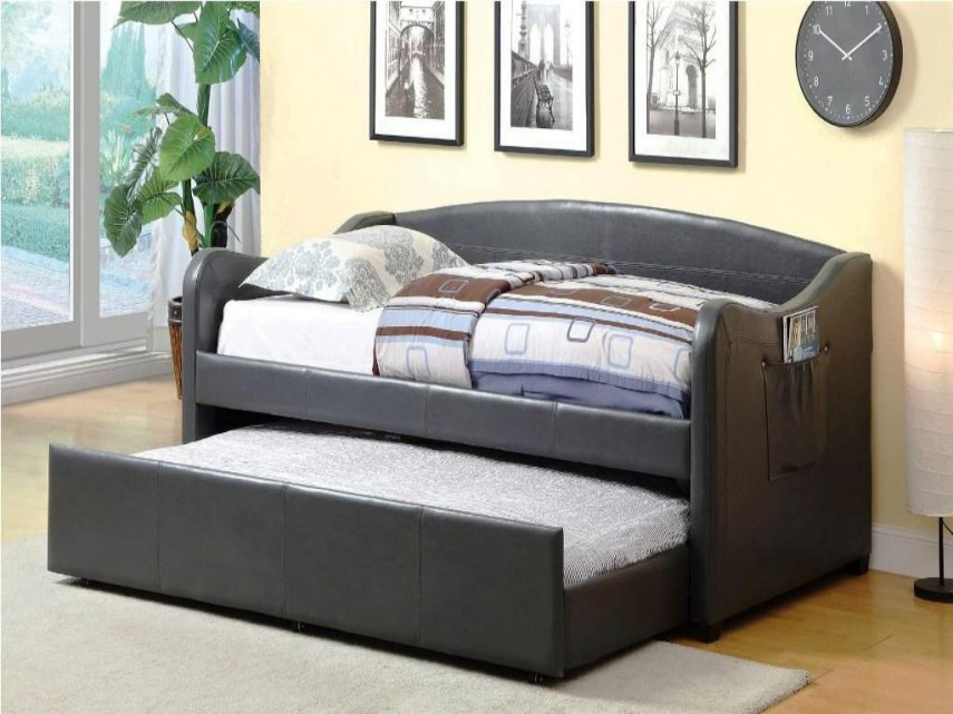 Queen Bed With Pull Out Bed Underneath | Wooden Daybed With Trundle | Cheap Daybeds