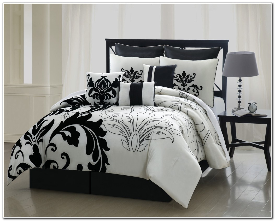 Black and white bedding walmart - Queen Bedding Sets Chevron Comforter Bed In A Bag Queen