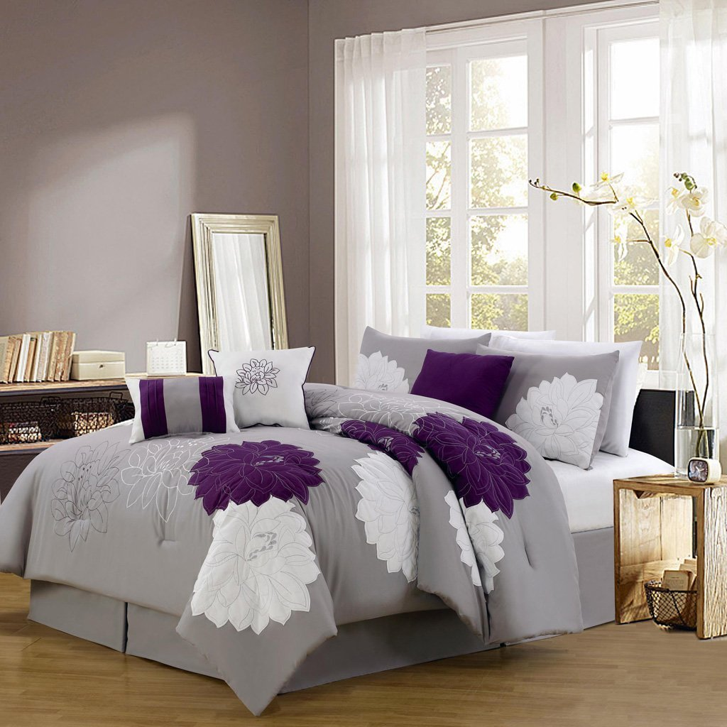 Queen Bedding Sets | Jcpenney Comforter Sets | Gray And White Bedding