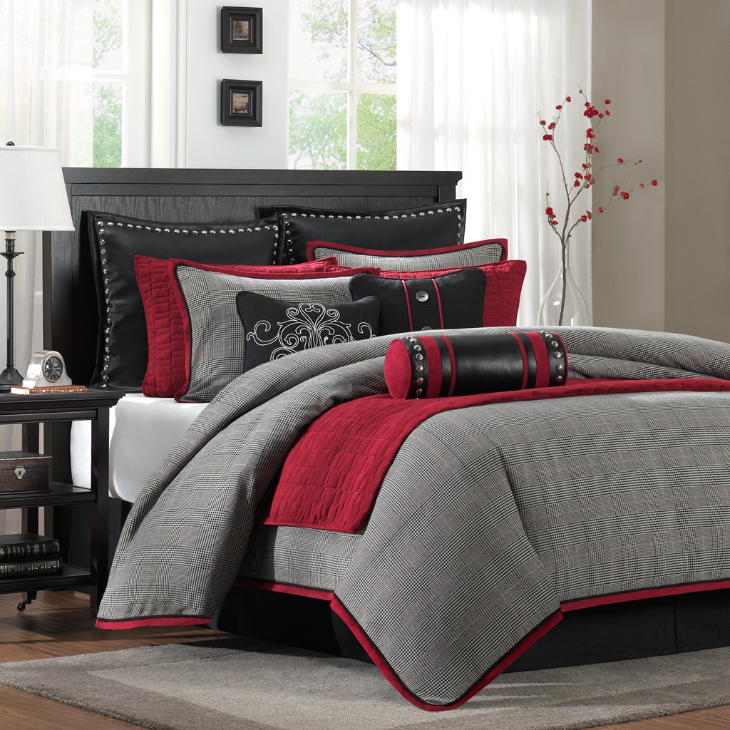 Black and red bedroom set - Queen Bedding Sets King Size Comforters Comforter Bed Sets Queen