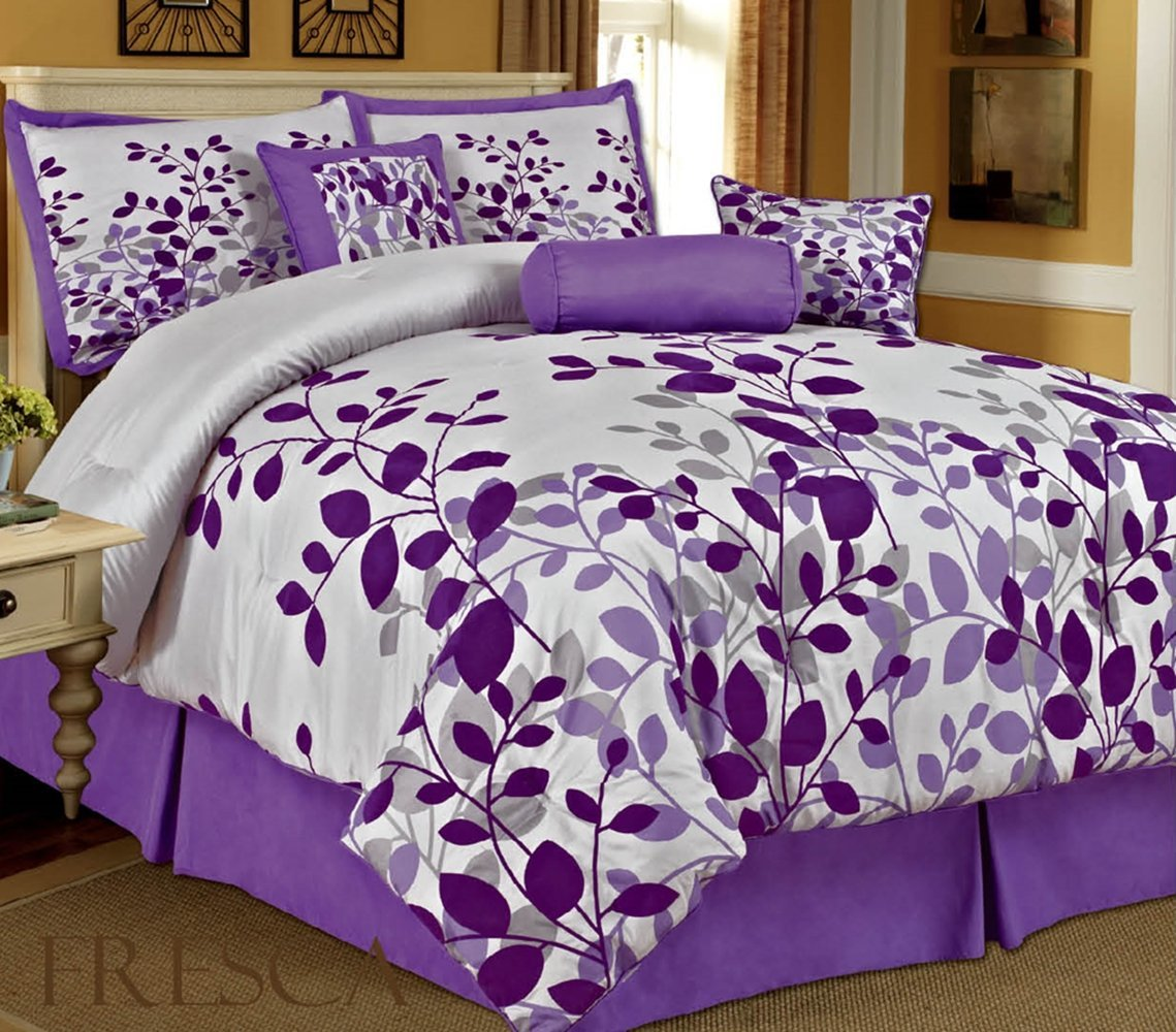 Queen Comforter Sets Purple | Purple Comforter Sets | Purple Queen Size Comforter Sets