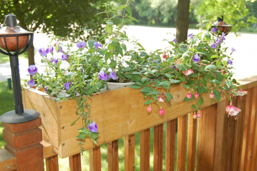 Rail Planter | Deck Rail Planters | Balcony Railing Planter