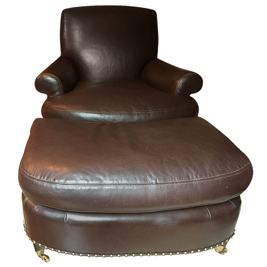 Reclining Chair With Ottoman | Leather Chair And Ottoman | Small Leather Chair And Ottoman