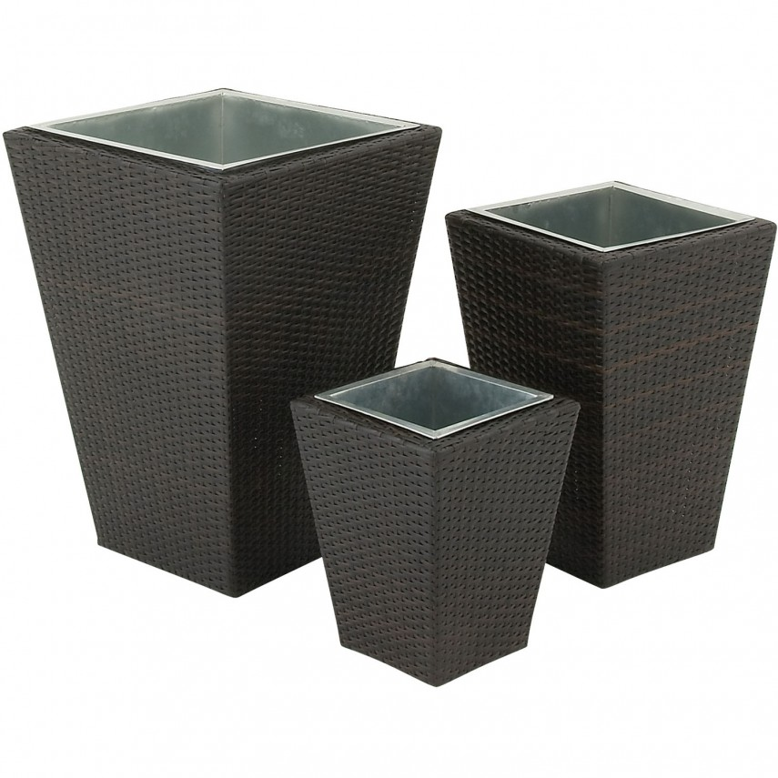 Rectangle Planter Box   Tall Outdoor Planter   Tall Planters