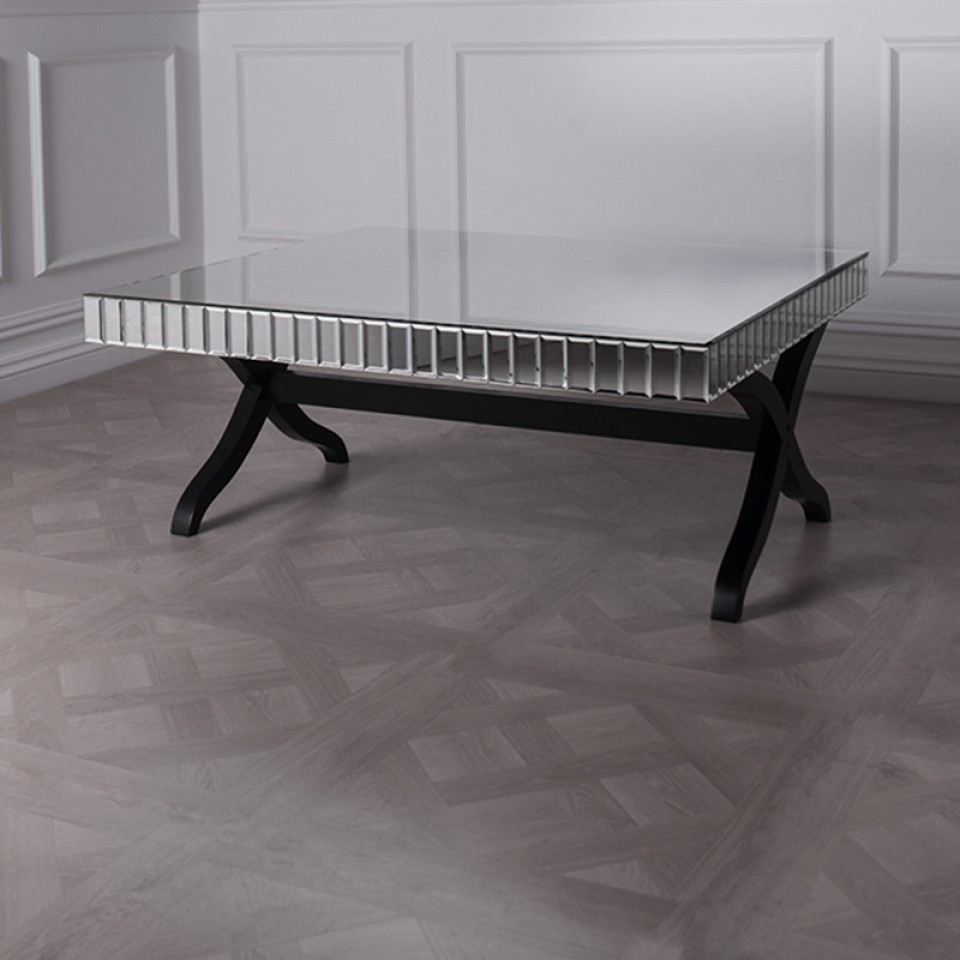 Rectangular Glass Coffee Table | Mirrored Coffee Table Target | Mirrored Coffee Table