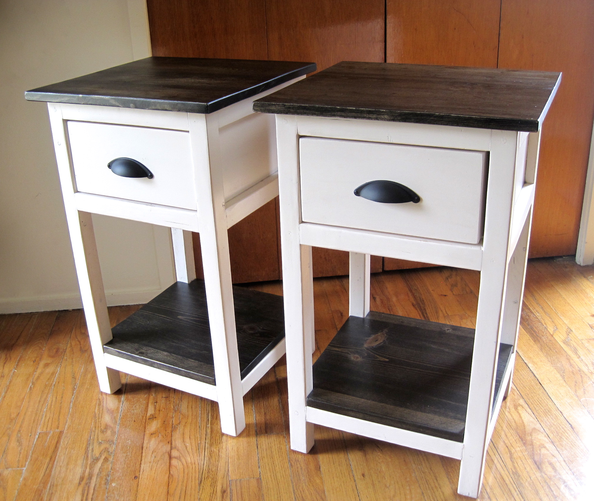 Restoration Hardware Side Table | Round Bedside Table | Narrow Nightstand