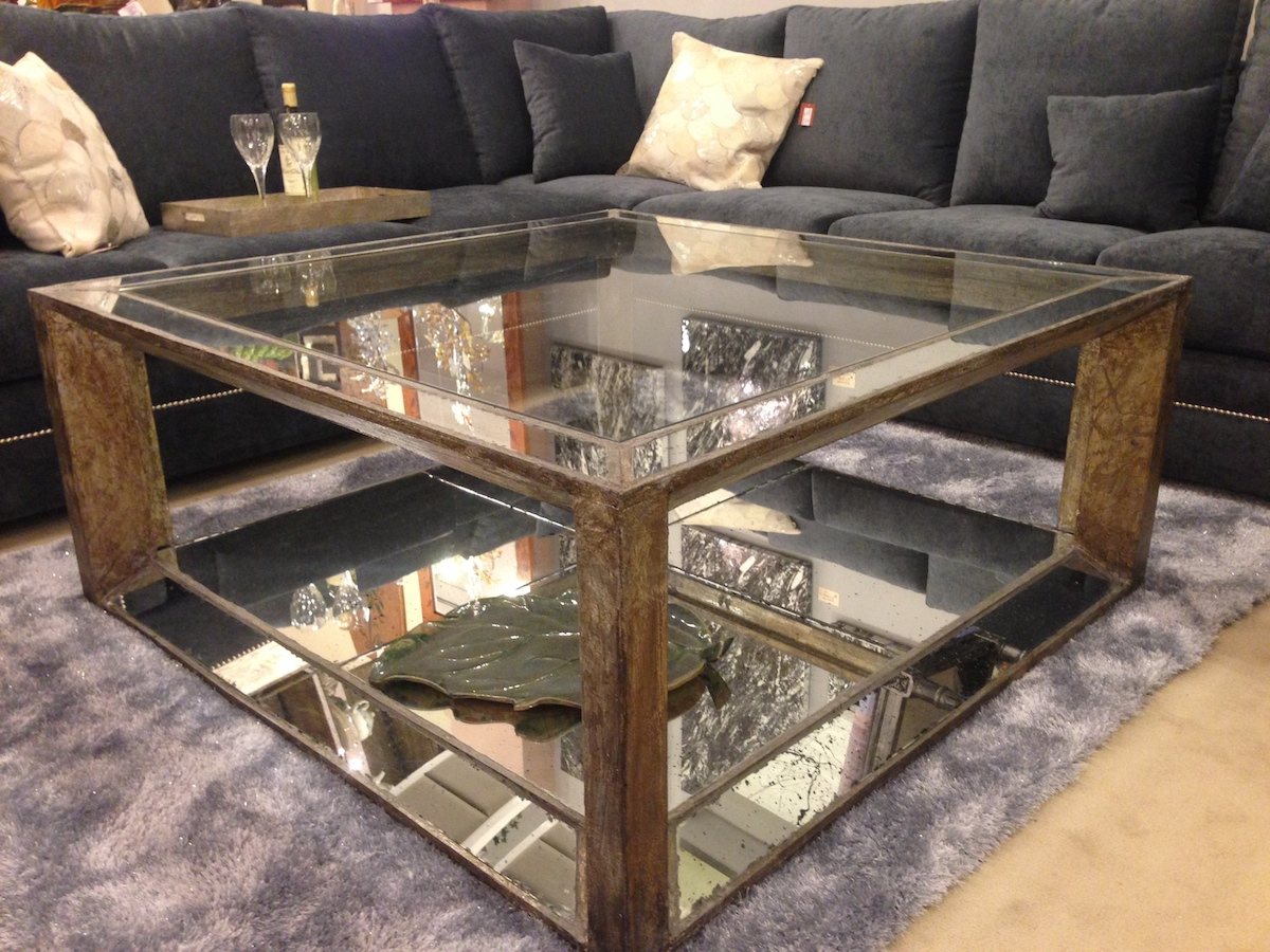 Furniture Appealing Mirrored Coffee Table For Living Room