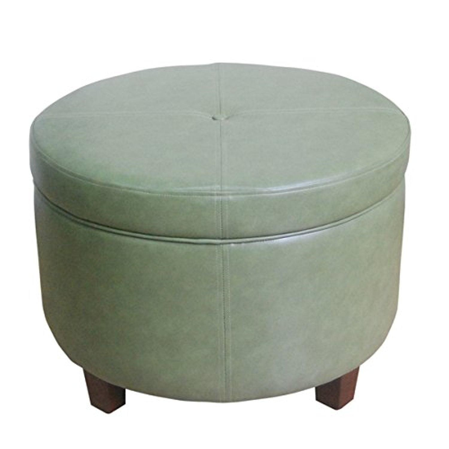 Round Storage Ottoman | Overstock Com Ottomans | Round Ottoman Coffee Table