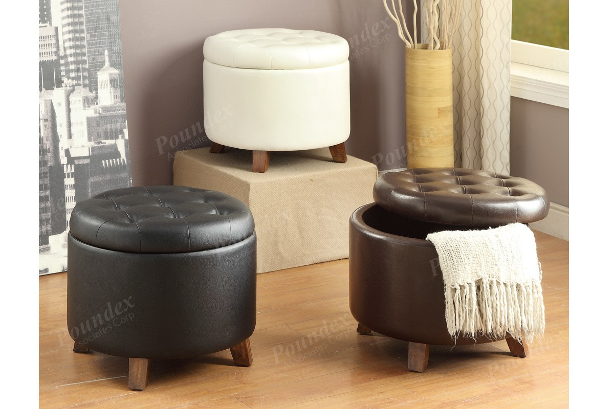 Leather Storage Ottoman Coffee Table Finest Leather & Round Leather Ottoman Coffee Table With Storage - Listitdallas