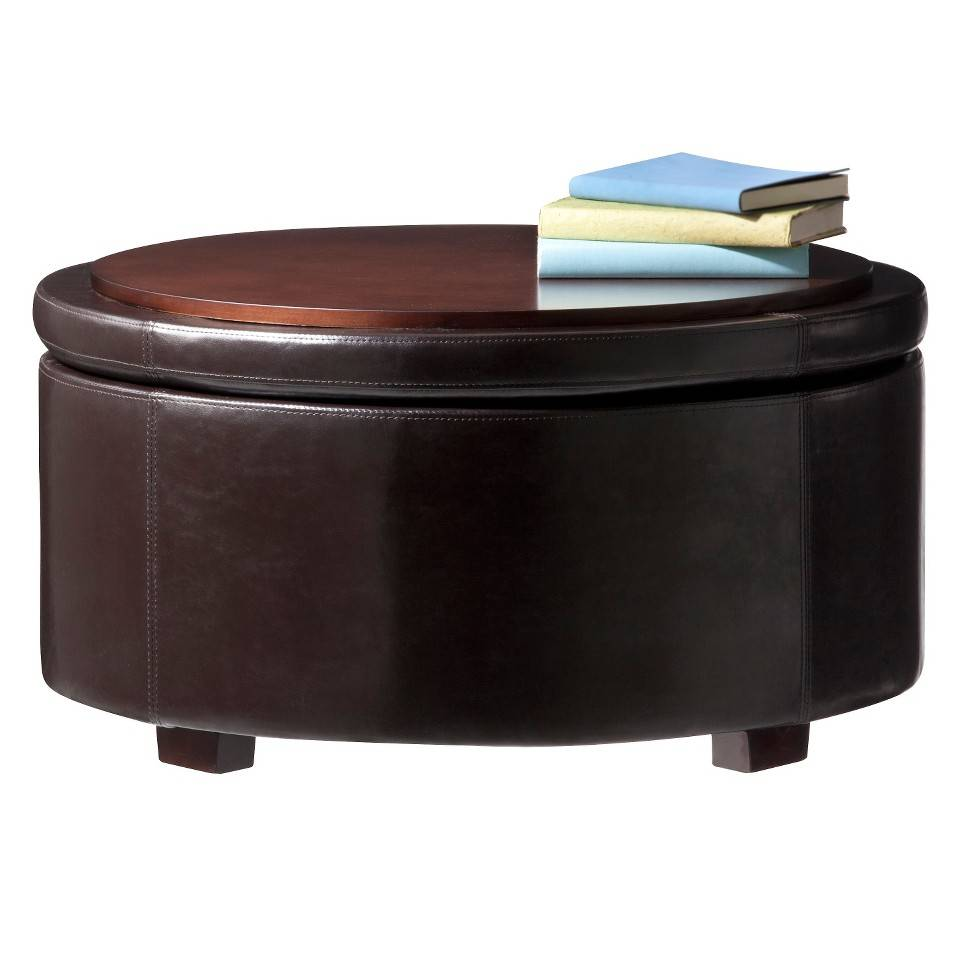 Storage Coffee Table Target: Furniture: Amazing Round Storage Ottoman For Home