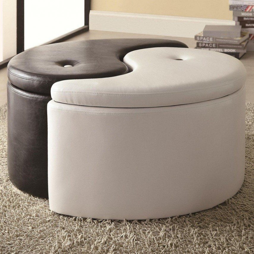 Round Storage Ottoman | Tufted Cocktail Ottoman | Teal Storage Bench
