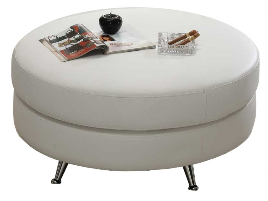 Round Storage Ottoman | Walmart Footstool | Round Leather Ottoman Coffee Table With Storage