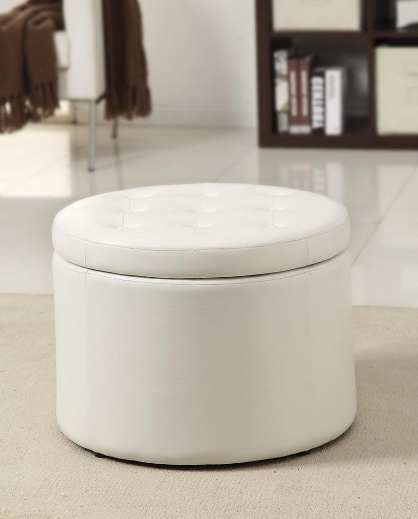 Round Tufted Ottoman With Storage | Walmart Footstool | Round Storage Ottoman