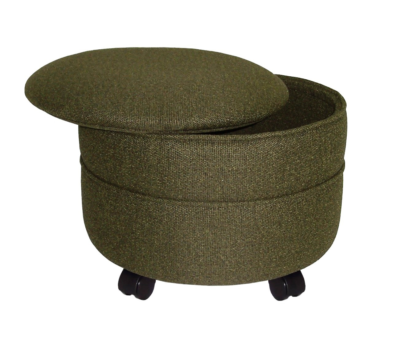 Furniture amazing round storage ottoman for home furniture ideas Round ottoman coffee table with storage