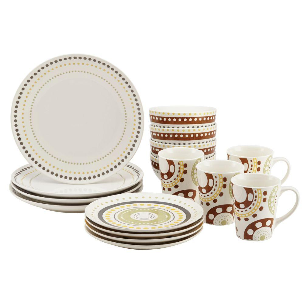 Sango 40-piece Nova Brown Stoneware Dinnerware Set | Gallery Dinnerware | Stoneware Dinnerware Sets