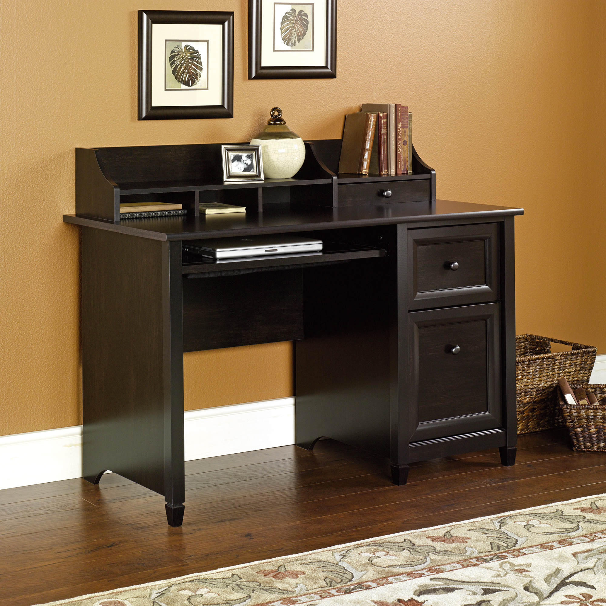 Sauder Cinnamon Cherry Computer Desk | Sauder Shoal Creek Computer Desk Dark Brown | Sauder Computer Desks