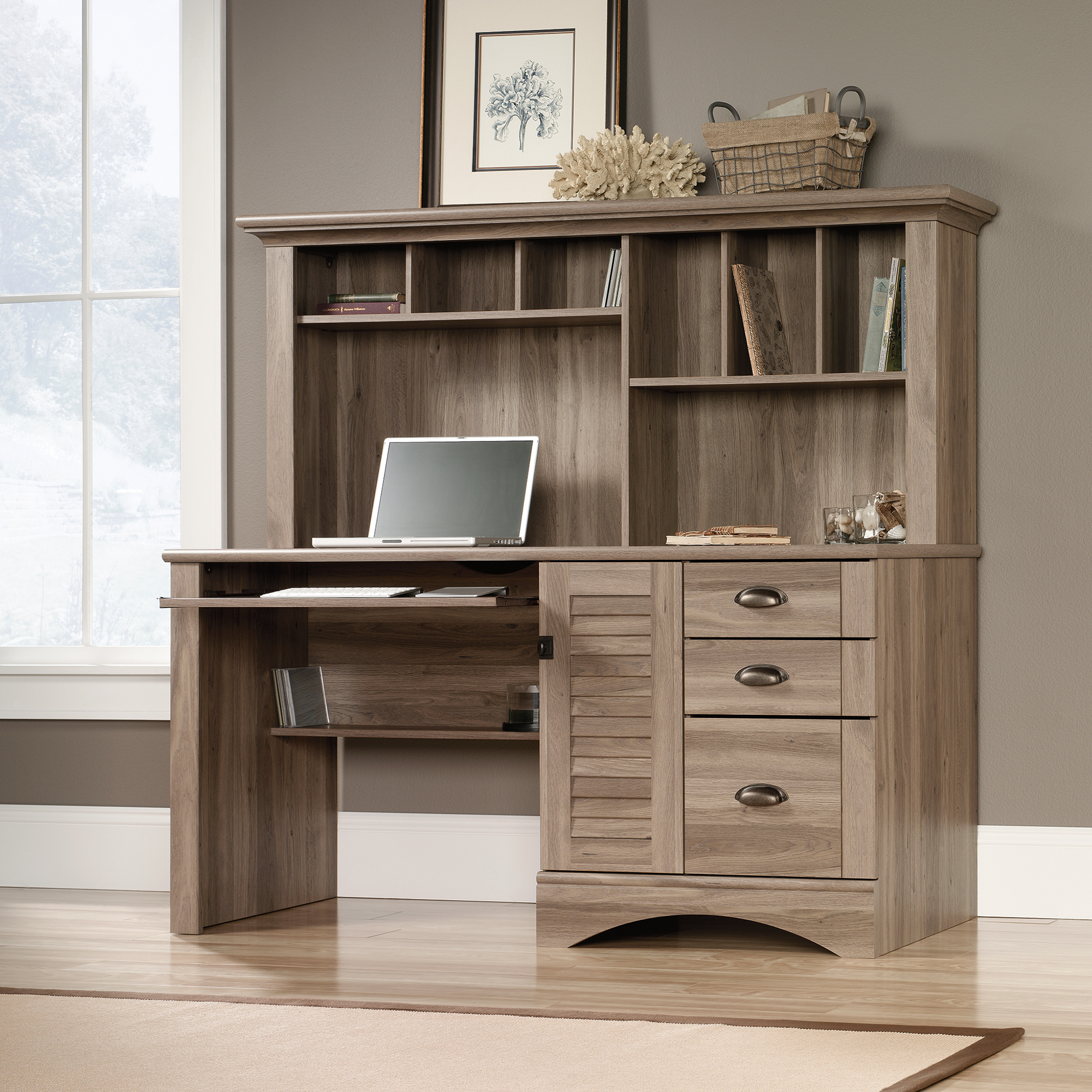 Sauder Computer Desks | Desks Amazon | L Shaped Computer Desk with Hutch