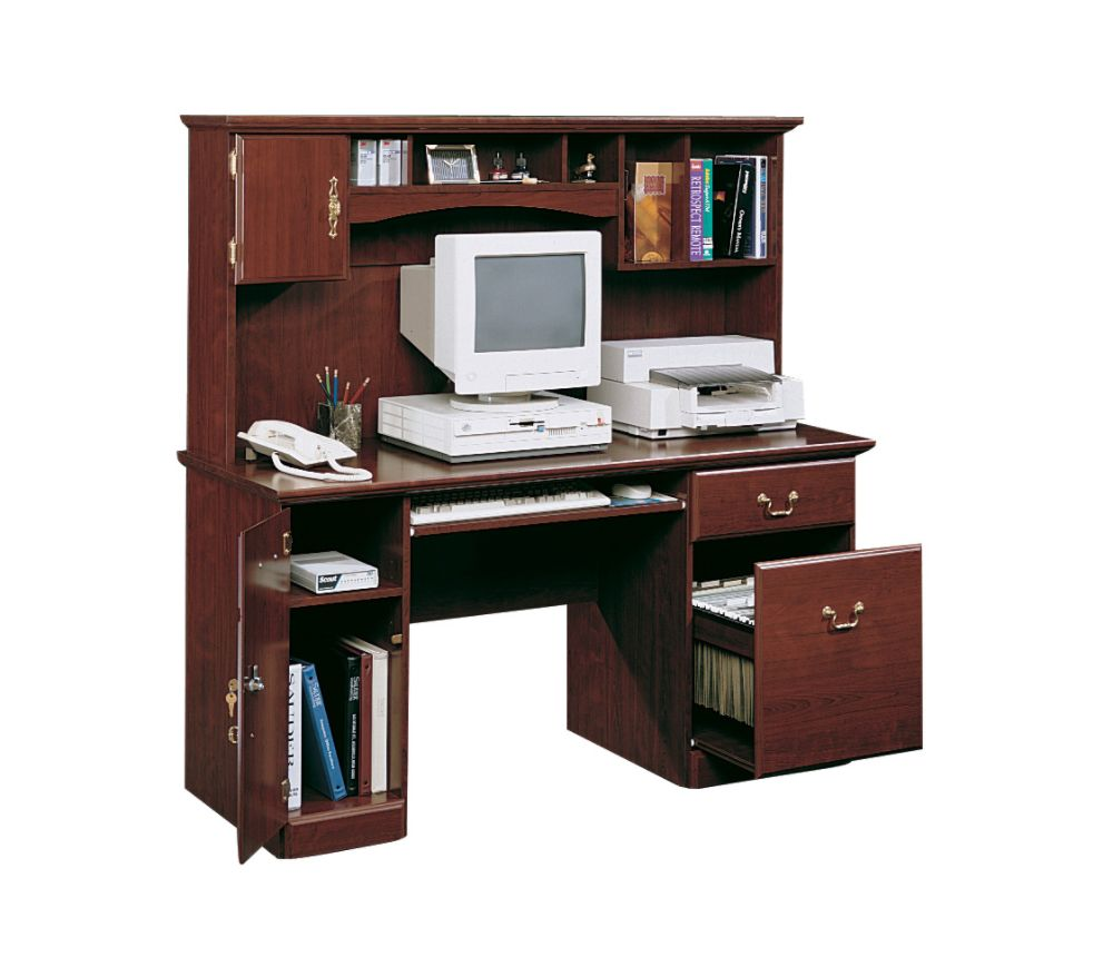 Sauder Desks Beautiful Desk With Hutch White