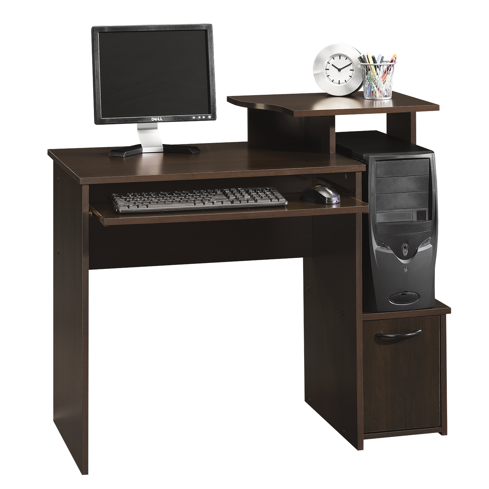 Sauder Computer Desks | Small Corner Desk with Hutch | L Shaped Desks with Hutch
