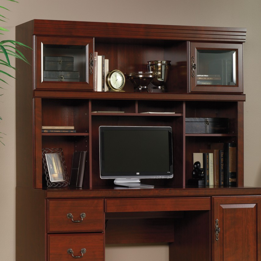 Sauder Computer Desks | Student Desk With Hutch | Executive Desk With Hutch