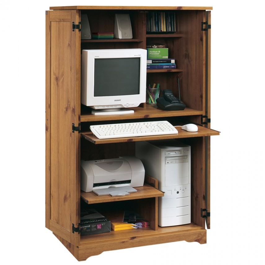 Sauder Harbor View Computer Desk With Hutch Antiqued White | Sauder Computer Desks | Computer Desk Kmart