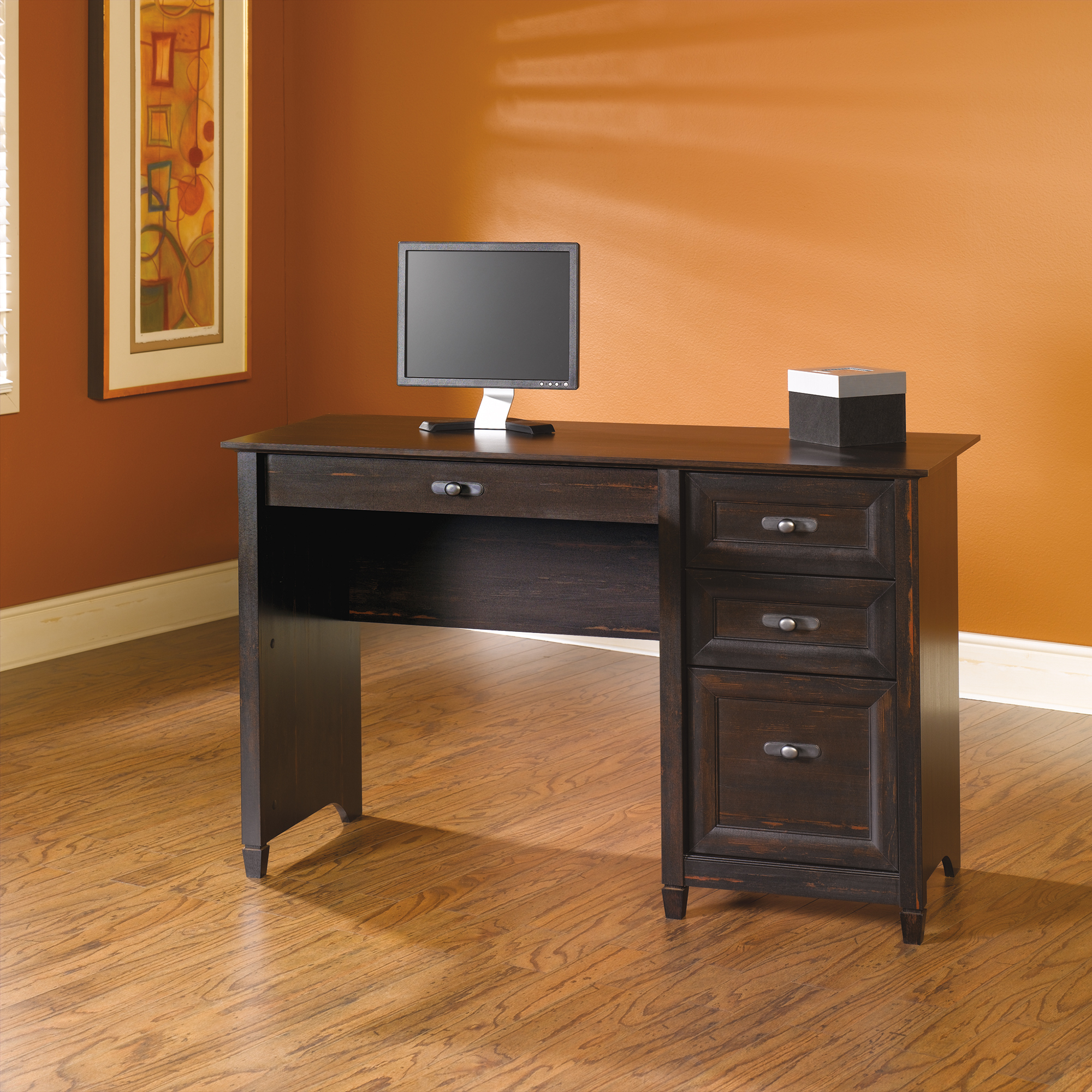 Saunders Desk | Sauder Computer Desks | Desk with Filing Cabinet