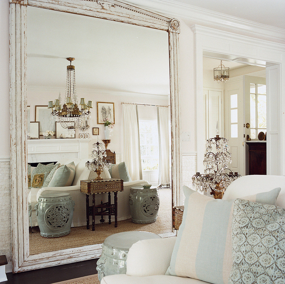 Appealing Oversized Mirrors for Home Decoration Ideas: Scalloped Mirror | Target Mirrored Table | Oversized Mirrors